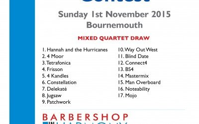 Draw for BIH Mixed Quartet contest is out