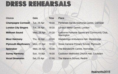 Upcoming dress rehearsals