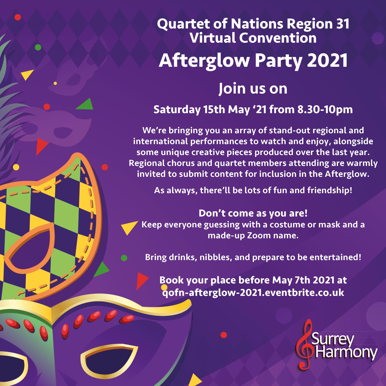 Afterglow 2021 Invitation