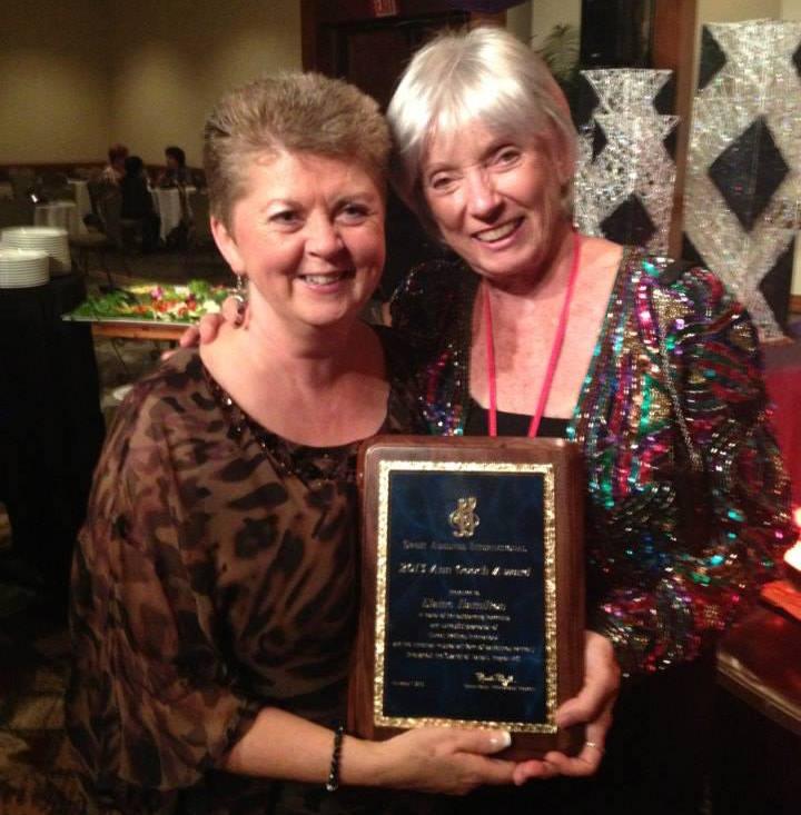 Elaine Hamilton with Ann Gooch