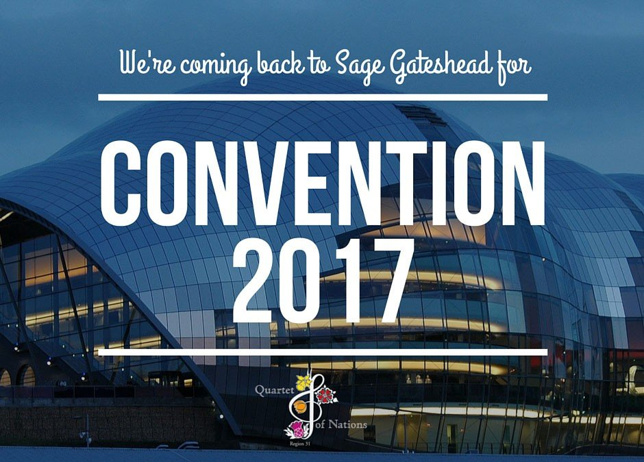 Convention 2017 will be at Sage Gateshead