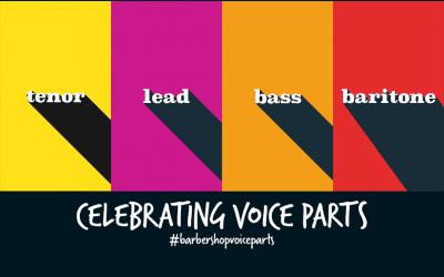 Our celebration of barbershop voice parts