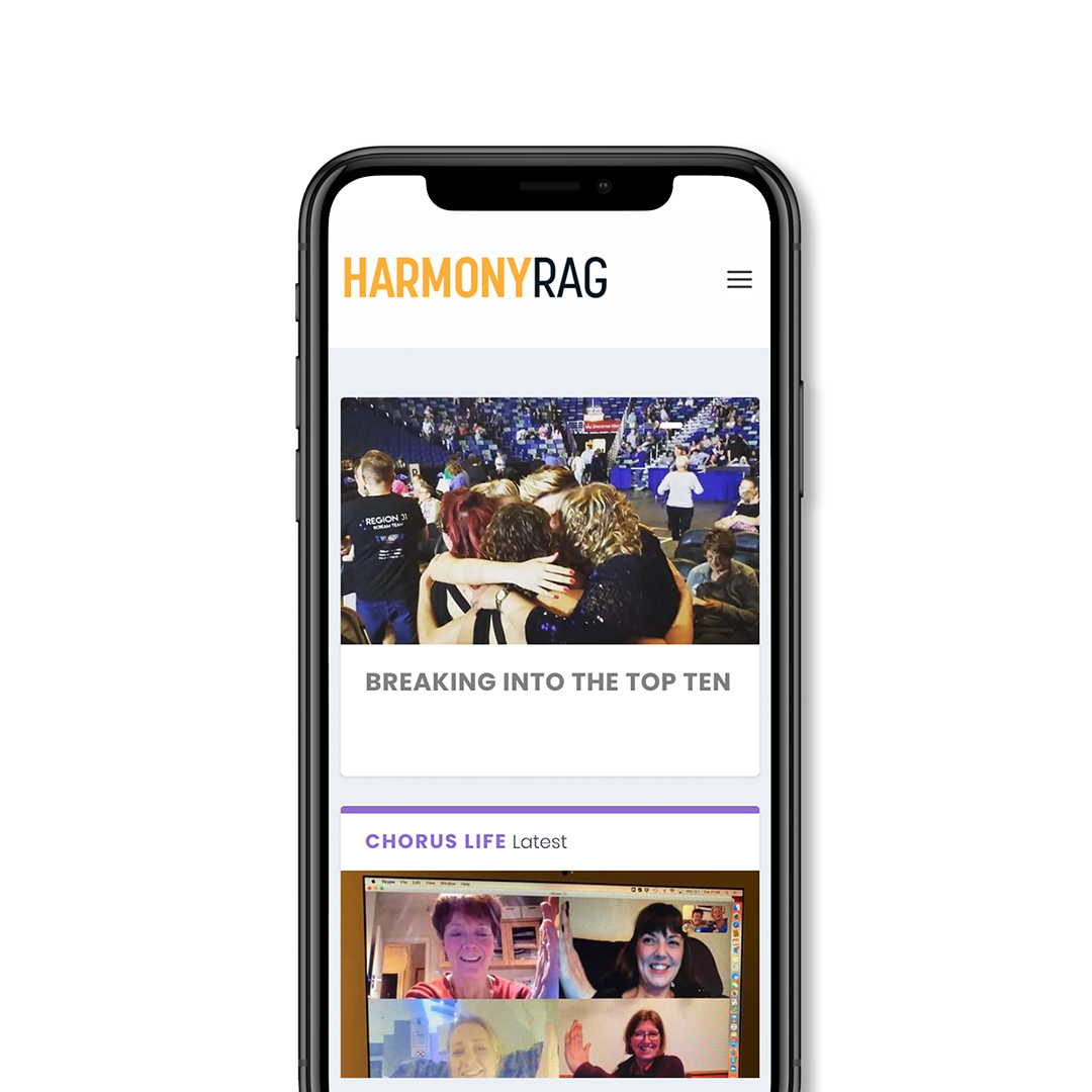 Harmony Rag on mobile